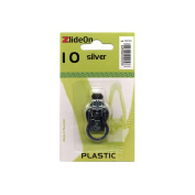 Fix-A-Zipper Size 10 Plastic ZlideOn Zipper Pull Replacements, Silver