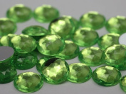 18mm Brighten Peridot A15 Flat Back Round Acrylic Jewels High Quality Pro Grade - 30 Pieces
