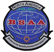 RESIDENT EVIL North America BSAA Logo 9.5cm Tall Embroidered PATCH