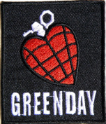 GREEN DAY HEART GRENADE Heavy Metal Rock Punk Music Band Logo Polo T shirt Patch Sew Iron on Embroidered Badge Sign Costum