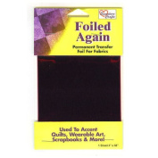 Foiled Again magenta permanent transfer foil for fabrics 10cm x 120cm sheet