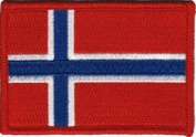 Norwegian Flag - Flag of Norway- 5.7cm x 8.9cm - Embroidered Iron On or Sew On Patch