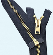 90cm Chaps Zipper YKK #10 Brass ~ Separating ~ 560 Navy