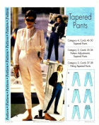 Step by Step Sewing Pattern Tapered Pants Size 4 - 22