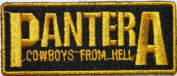 7.6cm x 3.2cm PANTERA COWBOYS FROM HELL Music Band Heavy Metal Rockabilly Rock Punk Logo jacket T shirt Patch Iron on Embroidered music patch by Tourlesjours