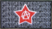 8.9cm X 4.4cm Anarchy Heavy Metal Rock Punk Music Band Logo Polo T shirt Patch Sew Iron on Embroidered Costum