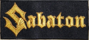 10cm x 4.4cm Sabaton Music Band Logo Heavy Metal Punk Rock Music Jacket T-shirt Patch Sew Iron on Embroidered music patch by Tourlesjours