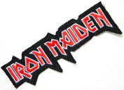 """11cm """" x 3.8cm IRON MAIDEN Woven Heavy Metal Rockabilly Rock Punk Music Band Logo jacket T-shirt Patch Iron on Embroidered Sign music patch by Tourlesjours"""