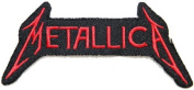 12cm x 5.7cm METALLICA Heavy Metal Rockabilly Rock Punk Music Band Logo jacket T-shirt Patch Iron on Embroidered music patch by Tourlesjours