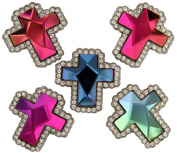 Rhinestone Multi-Colour Gem Cross