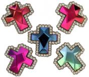 Rhinestone Multi-Colour Gem Cross