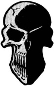 Skull Silhouette Embroidered Patch 12 x 7.5cm