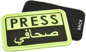 Press/Arabic(TM) Reporter Rubber Velcro Patch by Hazard 4