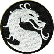 Dragon Patch, small, 7.6cm x 7.6cm , small embroidered iron on patch