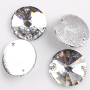 Round Gems Crystal Sew-on Charms Resin Flatback Buttons 75