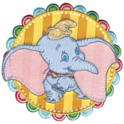 Disney Dumbo In Striped Circle Iron-On Applique-