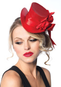 Leg Avenue Satin Top Hat With Flower And Bow Accent