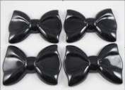 8pcs 60mm Resin Hair Bow Flatback Button-black Hot Products