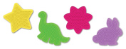 Perler Fun Fusion Pegboards, Assorted Colours, 4pk