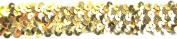 Belagio BK-302-10 Elastic Sequin Trimming, 25mm, Gold, 10 yard/roll