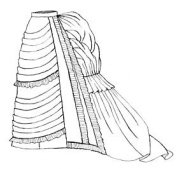 1875 Parisian Trained Skirt Pattern