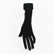 New Black Velvet Female Mannequin Left Hand Model Retail Shop Jewellery Display Set
