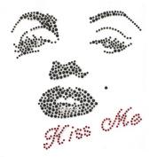 Rhinestone Iron on Transfer Hot Fix Motif Crystal Fashion Design Kissing Woman 3 Sheets 5.4*14cm