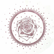 Rhinestone Iron on Transfer Hot Fix Motif Fashion Circle Pink Rose Design 3 Sheets 8.4*21cm