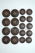 Brown Suit Button Set Double Breasted