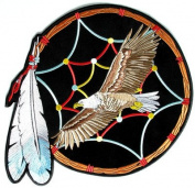 Dream Catcher Eagle American Indian NEW Embroidered Biker BACK Patch LRG-0348