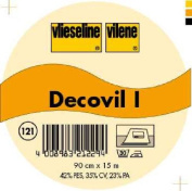 Vilene Decovil I interfacing-with a leather-like handle beige-coloured; width 35.10 inch/90cm, price per metre