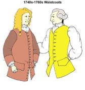 1740's to 1760's Colonial or Pirate Era Waistcoats Pattern