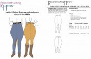 1910s-1940s Ladies' Riding Breeches or Jodhpurs Pattern