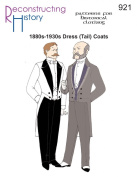 1880s-1930s Dress Coat or Tailcoat Pattern