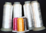 New Threadsrus 4 Extra Large Spools of White Bobbin Thread - 5000 Mts Each