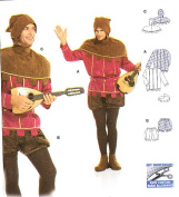 Burda 2498 Pattern Lord of the Castle, Troubadour Costume Size 36 - 48