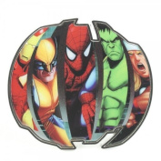 Marvel Heroes Hulk Iron Man Spiderman Officially Licenced Belt Buckle