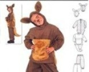 Burda 2762 Sewing Costume Pattern, Kangaroo, Child Size 4 to 9