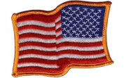 Package of 10 'USA Waving (reversed)' iron-on embroidered patches