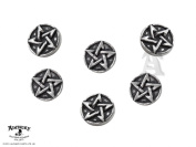 Pentagram Shirt Buttons by Alchemy Gothic