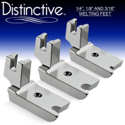 Distinctive 2.5cm - 10cm , 2.5cm - 20cm and 7.6cm - 41cm Large Piping/Welting Sewing Foot Package - Fits All Low Shank Singer, Brother, Babylock, Euro-Pro, Janome, Kenmore, White, Juki, New Home, Simplicity, Elna and More!