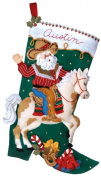 Bucilla Cowboy Santa Stocking Felt Appliqué Kit, 46cm Long
