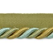 Expo International 20-Yard of Preshea Twisted Lip Cord Trim, 1cm , Sage Multi