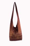Rare Asian Hippie Hobo Cotton Sling Cross-body Handmade Red Thai Pattern Bag Shoulder Purse