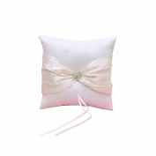 Ivory Satin Bow Ring Bearer Pillow