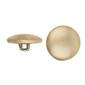 C & C Metal Products 5052 Beaded Pattern Dome Metal Button, Size 20 Ligne, Gold, 144-Pack