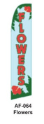 HPP 11-1/2' X 2-1/2' Brand New Advertising Tall Flag- Flowers