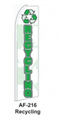 HPP 11-1/2' X 2-1/2' Brand New Advertising Tall Flag- Recycling
