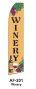 HPP 11-1/2' X 2-1/2' Brand New Advertising Tall Flag- Winery