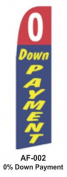 HPP 11-1/2' X 2-1/2' Brand New Advertising Tall Flag-0 Down Payment